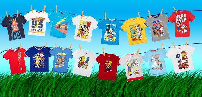 Chlapčenské letné trička