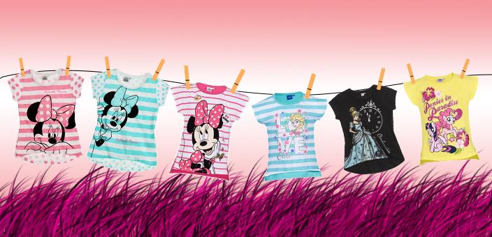 Dievčenské letné trička