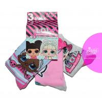 Dievčenské ponožky LOL 3 kusy v balení vzor 2