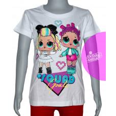 Dievčenské letné tričko LOL biele č.116