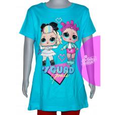 Dievčenské letné tričko LOL modré