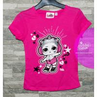 Dievčenské letné tričko LOL fuchsia