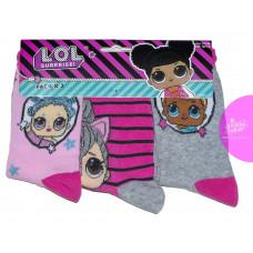 Dievčenské ponožky LOL 3 kusy v balení vzor 3