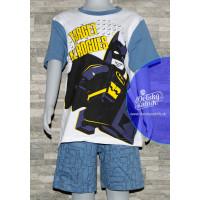 Pyžamo letné chlapčenské Lego Batman modré