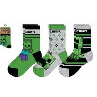 Chlapčenské ponožky Minecraft 3 kusy šedé 23/26