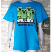 Chlapčenské letné tričko Minecraft modré