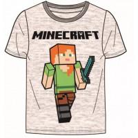 Chlapčenské letné tričko Minecraft sivé