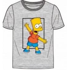 Tričko letné Bart Simpson šedé