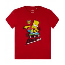 Tričko letné Bart Simpson červené č.128