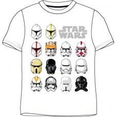 Chlapčenské letné tričko Star Wars biele