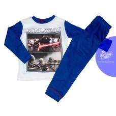 Pyžamo chlapčenské Star Wars s dlhým rukávom modré 104,140