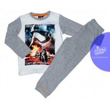 Pyžamo chlapčenské Star Wars s dlhým rukávom šedo-biele