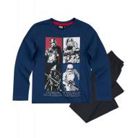 Pyžamo chlapčenské Star Wars s dlhým rukávom modré