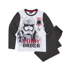 Pyžamo chlapčenské Star Wars s dlhým rukávom šedé