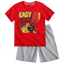 Chlapčenské letné pyžamo Angry Birds červené 116,140