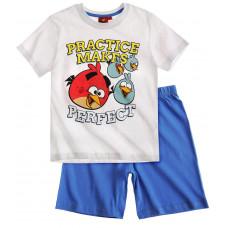 Chlapčenské letné pyžamo Angry Birds biele