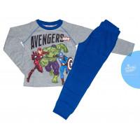 Chlapčenské dlhé pyžamo Avengers šedé 122,128