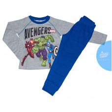 Chlapčenské dlhé pyžamo Avengers šedé