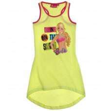 Letné dievčenské šaty Barbie žlté