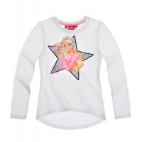 Tričko Barbie s dlhým rukávom biele