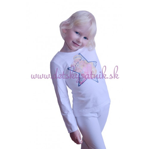 65003fa3d4d5 ... Tričko Barbie s dlhým rukávom biele