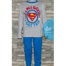 Chlapčenské pyžamo Superman šedo-modré