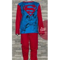 Chlapčenské pyžamo Superman modro-červené 116,128