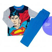 Chlapčenské pyžamo Superman modro-sivé