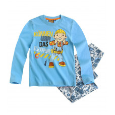 Pyžamo Bob staviteľ s dlhým rukávom modré