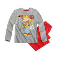 Pyžamo Bob staviteľ s dlhým rukávom šedé