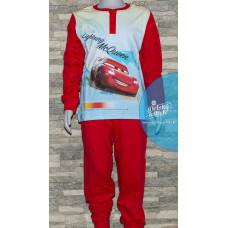 Chlapčenské dlhé pyžamo Disney Cars červené č.110,122
