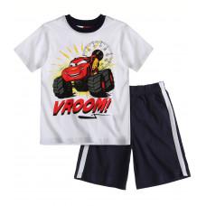 Chlapčenský letný set Disney Auta biely