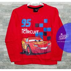 Chlapčenské dlhé tričko Disney Cars červené 110,116