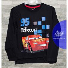 Chlapčenské dlhé tričko Disney Cars čierne 98