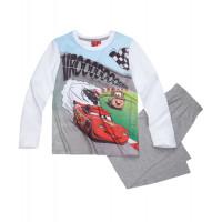 Chlapčenské dlhé pyžamo Disney Cars biele