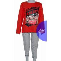 Chlapčenské dlhé pyžamo Disney Cars červené č.128