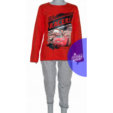 Chlapčenské dlhé pyžamo Disney Cars červené
