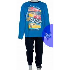 Chlapčenské dlhé pyžamo Disney Cars modré