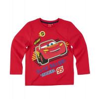 Chlapčenské dlhé tričko Cars červené č.116