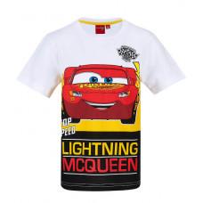 Chlapčenské letné tričko Disney Cars biele
