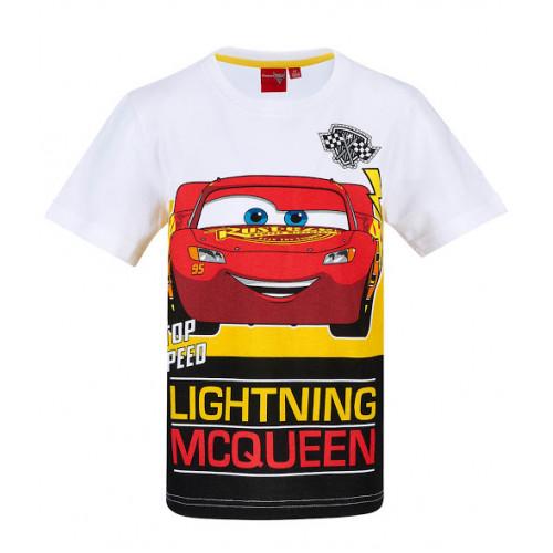 d545aa1330e9 Chlapčenské letné tričko Disney Cars biele ...