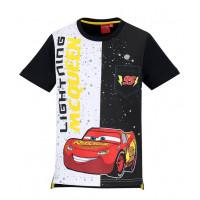Chlapčenské letné tričko Disney Cars čierno-biele