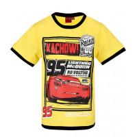Chlapčenské letné tričko Disney Cars žlté