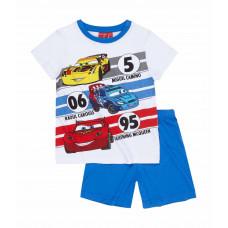 Chlapčenské letné pyžamo Disney Cars biele