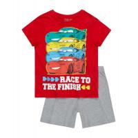 Chlapčenské letné pyžamo Disney Cars červené