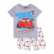 Chlapčenské letné pyžamo Disney Cars šedé