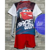Chlapčenské letné pyžamo Disney Cars červeno-biele