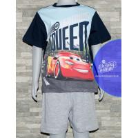 Chlapčenské letné pyžamo Disney Cars modré