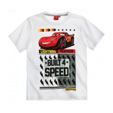 Chlapčenské letné tričko Cars biele