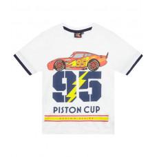 Chlapčenské tričko letné Cars biele